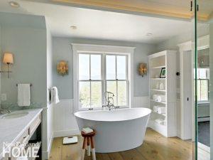 Vermont spa-like bathroom with freestanding tub