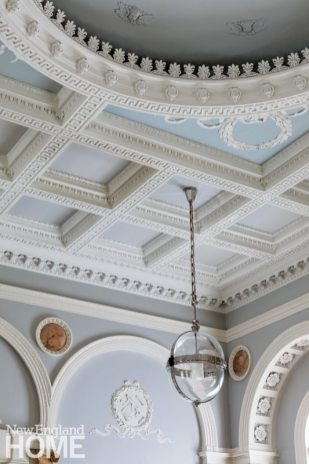 Historic Boston home plaster ceiling detail