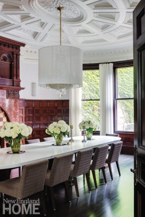 Historic Boston home dining room