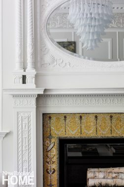 Historic Boston home fireplace detail