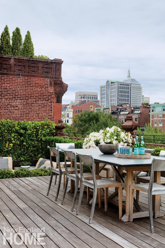 Historic Boston home roof deck