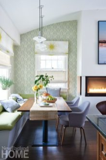 Brookline historic home banquette