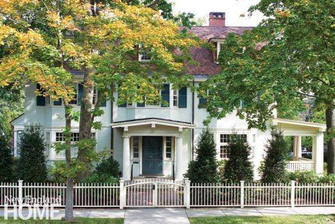 Exterior suburban historic home