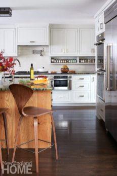 Brookline historic home white kitchen