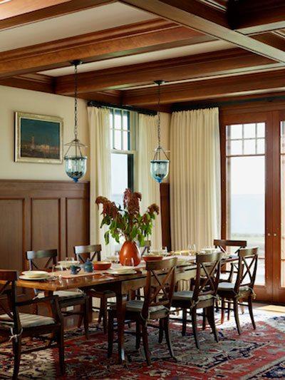 rhode island coastal dining room