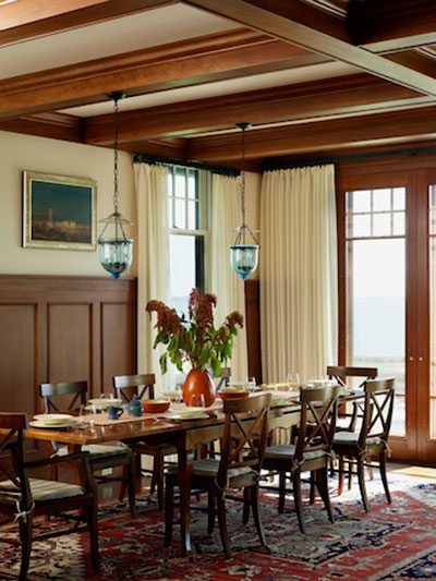 rhode island coastal dining room