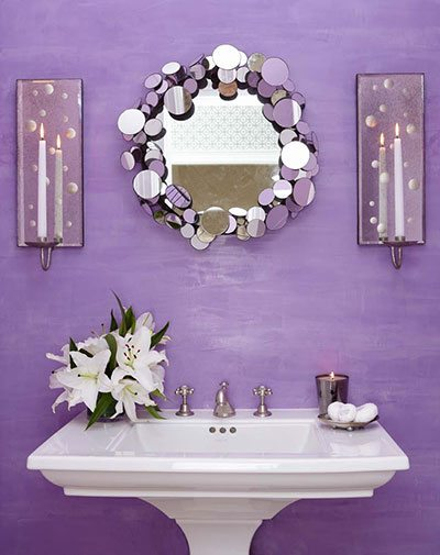 purple powder room