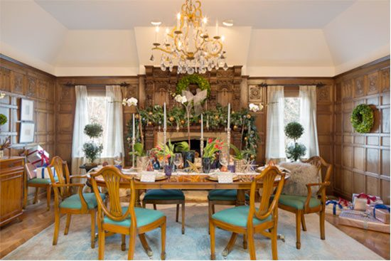 Vani Sayeed Holiday Dining Room