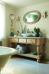 Antique bathroom with custom vanity