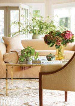 Elegant beige sofa
