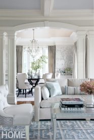 View of living and dining room designed by Michelle Morgan Harrison