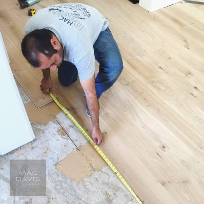 Mac Davis Flooring installers at work.