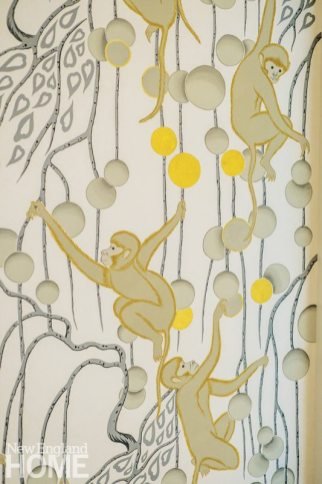 monkey wallpaper by de Gournay