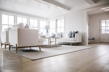 """Shown here Engineered Select White Oak Floors Pre-Finished in """"Skiff."""""""