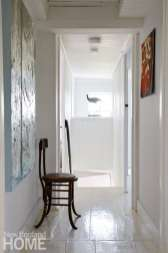 Hallway painted white