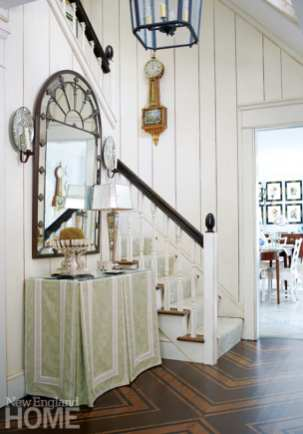 Paneled entryway Royal Barry Wills Colonial