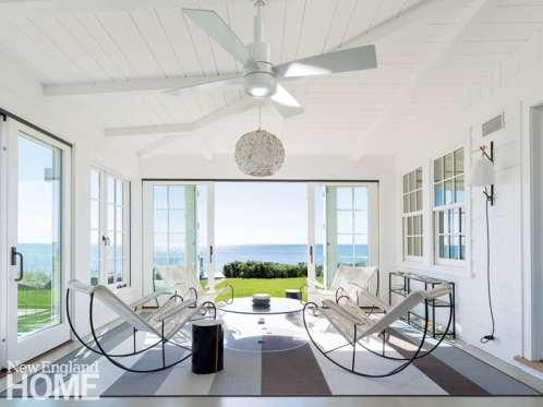 Contemporary Cape Cod sunroom