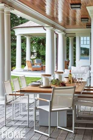 Shingle style porch