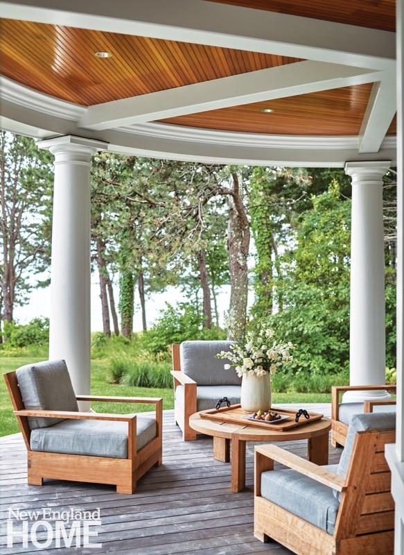 Circular Shingle style porch