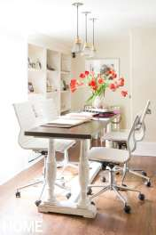 A lovely Bespoke Designs workstation sets the tone for an equally lovely customer experience; it's here that the creative process begins.