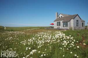 Nantucket home in a meadow