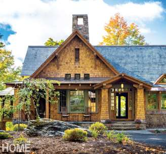Vermont shingle style home exterior