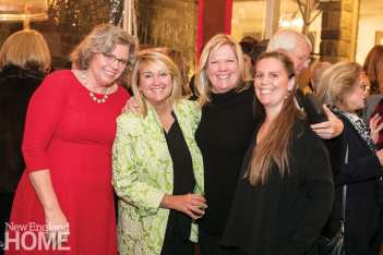 Reverend Laura Whitmore of the Southport Congregational Church with Traci Provost, Stephani Whittaker, and Christina Haas.