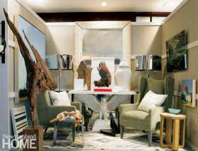 Thom Filicia deftly mixed artwork, textures, and an eclectic collection of furniture for his room in 2013.
