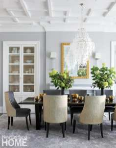 Custom dining table and upholstered chairs