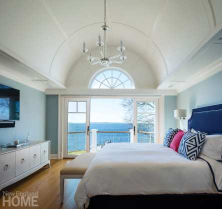 Master bedroom with barrel ceiling