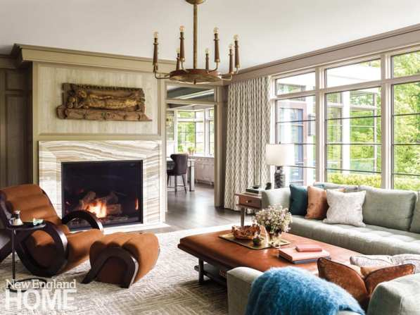 Family room addition to traditional Brookline home