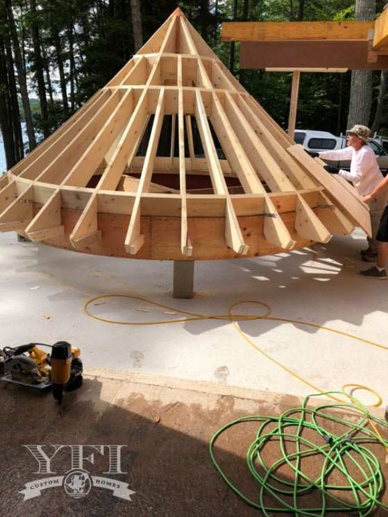 The YFI team built this custom turret on the ground then carefully put it in place with a crane making the process more cost and time efficient than building in situ.