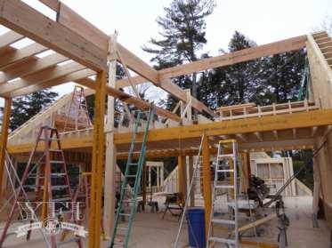 Building framing by YFI Custom Builders