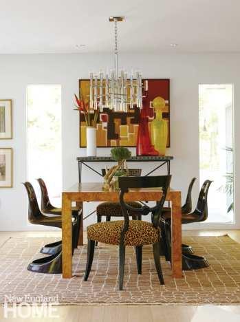dining room, Hollywood Regency host chairs, Steen Østergaard Cado chairs