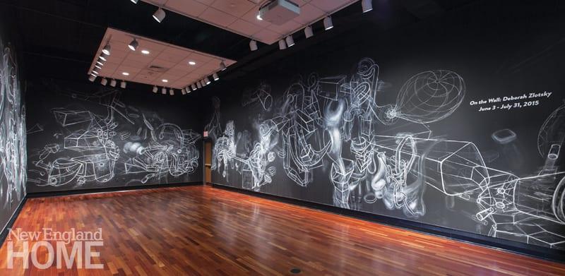 Deborah Zlotsky chalk on walls installation