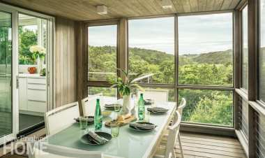 Because the house is on a hill, it provides one of the longest views in Truro.