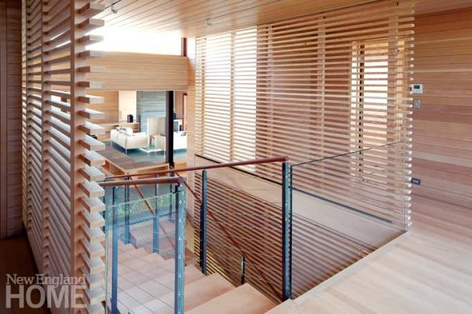 stairwell of a contemporary home