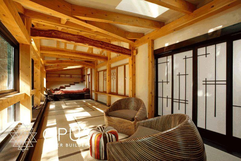 Luxury Home Construction New England: yoga room