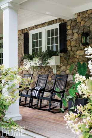 Classic New England charm porch