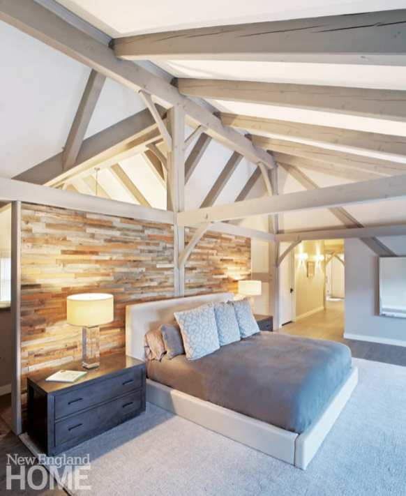 post and beam stowe bedroom