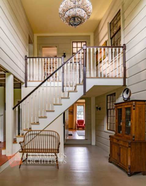historic home architect stairwell