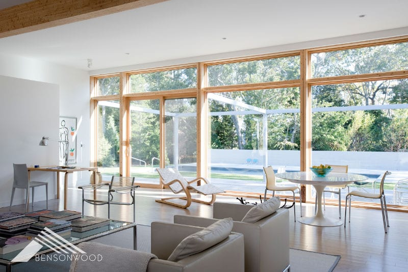 prefab cozy and contemporary outdoor view
