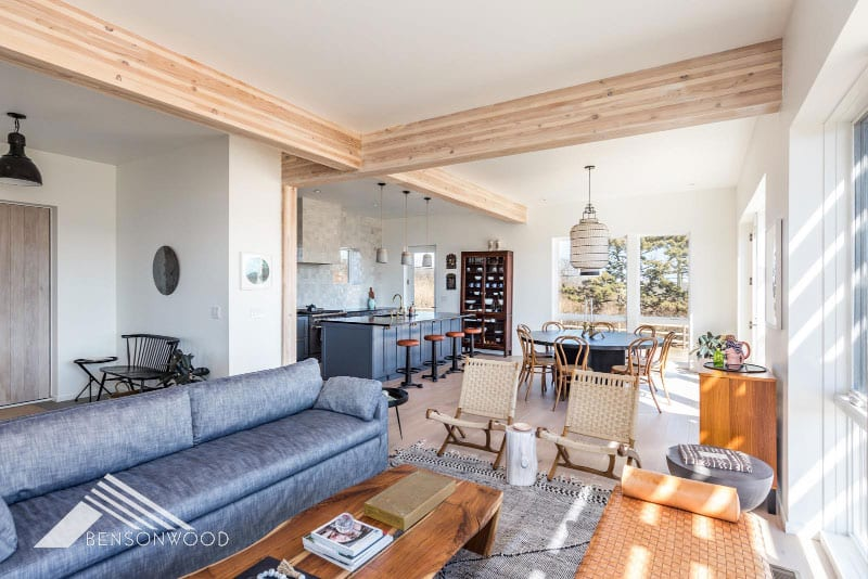 prefab cozy and contemporary living room