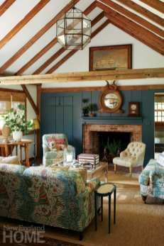 contemporary and traditional in wilton living room