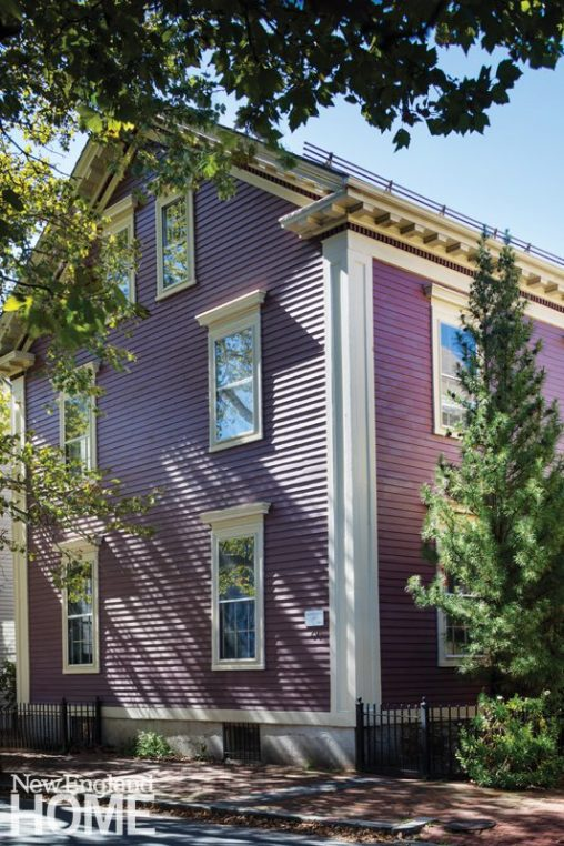 greek revival in providence purple exterior