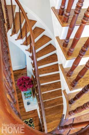 greek revival in providence staircase