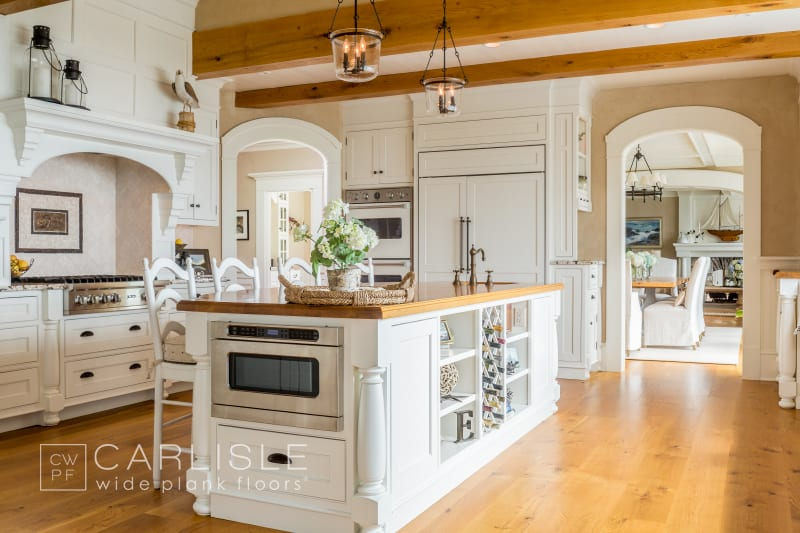 wood flooring for kitchens white oak with amber stain