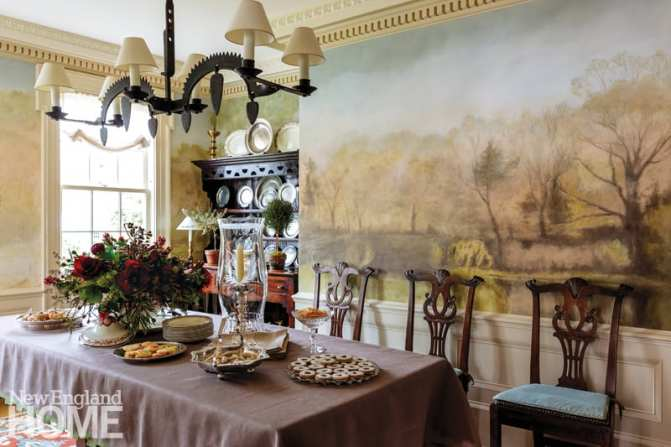 connecticut country house dining area