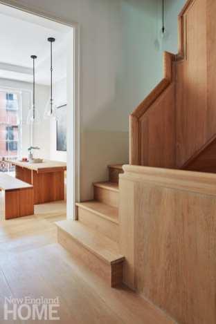 modern beacon hill staircase