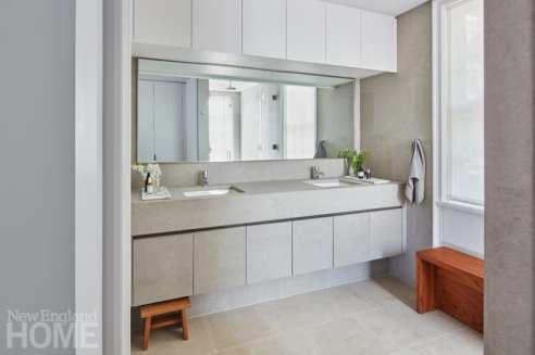 modern beacon hill marble bathroom